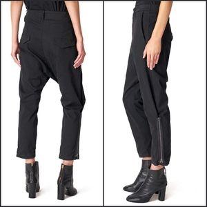 Nili Lotan Ankle Jackson Zipper Black Pant 4